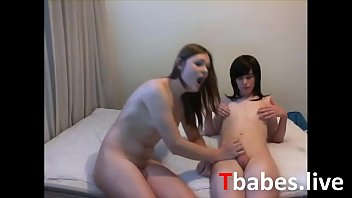 Two Teen Trannies Suck And Fuck Each Other