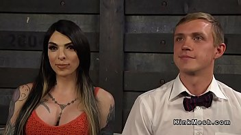 Big Cock Busty Tattooed Tgirl Bondage Mistress Anal Fucks Guy
