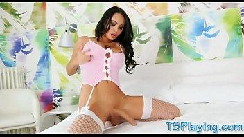 Big Tits Shemale Pornstar Kimber Lee Anal Pounded Bareback