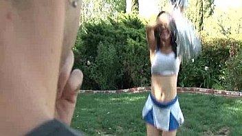 TS Cheerleader Celeste Gets Sucked Off