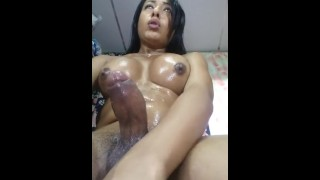 Hot Brunette Tranny Cumshot Webcam Hottie