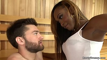 Interracial Black Tranny Ass Fucking White Guy